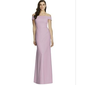 Dessy Collection Off-the-Shoulder Trumpet Gown